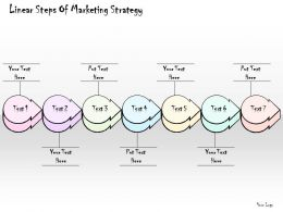 2102 Business Ppt Diagram Linear Steps Of Marketing Strategy Powerpoint Template