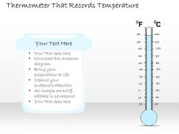 2102 Business Ppt Diagram Thermometer That Records Temperature Powerpoint Template