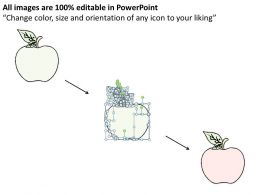 2102 Business Ppt Diagram Three Apples Icons Infographics Powerpoint Template