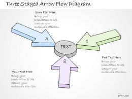 2102 Business Ppt Diagram Three Staged Arrow Flow Diagram Powerpoint Template