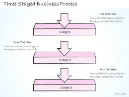 2102 Business Ppt Diagram Three Staged Business Process Powerpoint Template