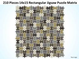 210 Pieces 14x15 Rectangular Jigsaw Puzzle Matrix Powerpoint templates 0812