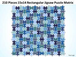 210 Pieces 15x14 Rectangular Jigsaw Puzzle Matrix Powerpoint templates 0812