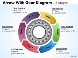 21 Illustration Of 6 Stages Multicolored Gears Mechanism