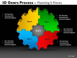 23 3d gears process planning 5 pieces