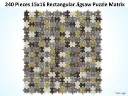 240 Pieces 15x16 Rectangular Jigsaw Puzzle Matrix Powerpoint templates 0812