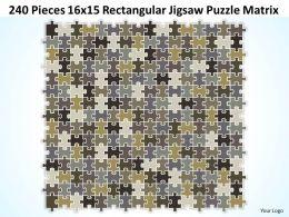 240 Pieces 16x15 Rectangular Jigsaw Puzzle Matrix Powerpoint templates 0812