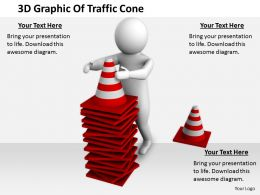 2413 3d Graphic Of Traffic Cone Ppt Graphics Icons Powerpoint