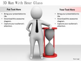2413 3d Man With Hour Glass Ppt Graphics Icons Powerpoint