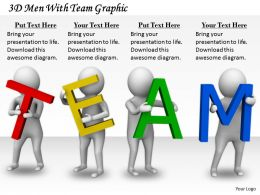 2413 3d Men With Team Graphic Ppt Graphics Icons Powerpoint