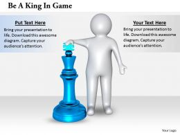 2413 Be A King In Game Ppt Graphics Icons Powerpoint