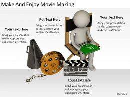 2413 Business Ppt Diagram Make And Enjoy Movie Making Powerpoint Template