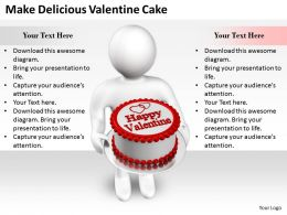 2413 Business Ppt Diagram Make Delicious Valentine Cake Powerpoint Template