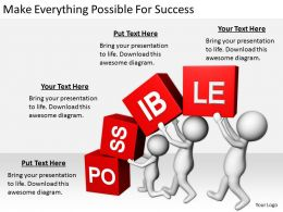 2413 Business Ppt Diagram Make Everything Possible For Success Powerpoint Template