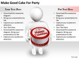2413 Business Ppt Diagram Make Good Cake For Party Powerpoint Template