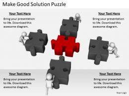 2413 Business Ppt Diagram Make Good Solution Puzzle Powerpoint Template