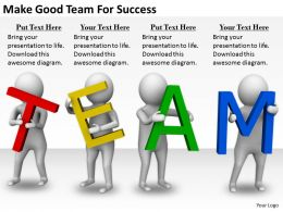 2413 Business Ppt Diagram Make Good Team For Success Powerpoint Template