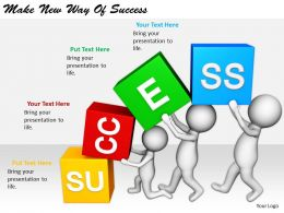 2413 Business Ppt Diagram Make New Way Of Success Powerpoint Template
