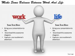 2413 Business Ppt Diagram Make Some Balance Between Work And Life Powerpoint Template