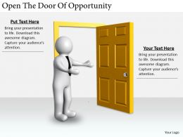 2413 Business Ppt Diagram Open The Door Of Opportunity Powerpoint Template