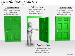 2413 Business Ppt Diagram Open The Door Of Success Powerpoint Template