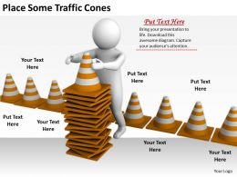 2413 Business Ppt Diagram Place Some Traffic Cones Powerpoint Template