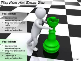 2413 Business Ppt Diagram Play Chess And Become Wise Powerpoint Template