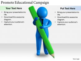 2413 Business Ppt Diagram Promote Educational Campaign Powerpoint Template