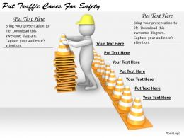 2413 Business Ppt Diagram Put Traffic Cones For Safety Powerpoint Template