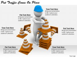 2413 Business Ppt Diagram Put Traffic Cones On Place Powerpoint Template