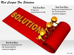 2413 Business Ppt Diagram Red Carpet For Solution Powerpoint Template