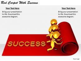 2413 Business Ppt Diagram Red Carpet With Success Powerpoint Template