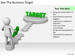 2413 Business Ppt Diagram See The Business Target Powerpoint Template