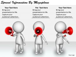 2413 Business Ppt Diagram Spread Information By Megaphone Powerpoint Template