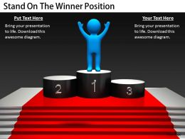 2413 Business Ppt Diagram Stand On The Winner Position Powerpoint Template