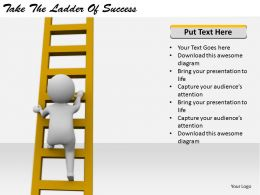 2413 Business Ppt Diagram Take The Ladder Of Success Powerpoint Template