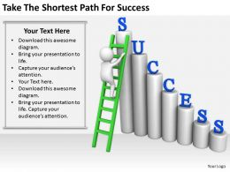 2413 Business Ppt Diagram Take The Shortest Path For Success Powerpoint Template