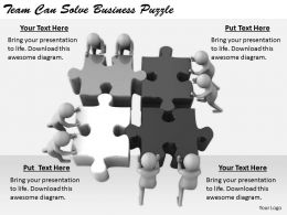 2413 Business Ppt Diagram Team Can Solve Business Puzzle Powerpoint Template