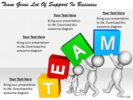2413 Business Ppt Diagram Team Gives Lot Of Support In Business Powerpoint Template