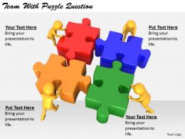 2413 Business Ppt Diagram Team With Puzzle Question Powerpoint Template
