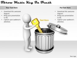 2413 Business Ppt Diagram Throw Waste Key In Trash Powerpoint Template