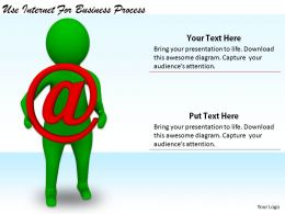 2413 Business Ppt Diagram Use Internet For Business Process Powerpoint Template
