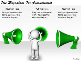 2413 Business Ppt Diagram Use Megaphone For Announcement Powerpoint Template