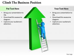2413 Climb The Business Position Ppt Graphics Icons Powerpoint