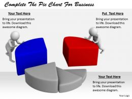 2413 Complete The Pie Chart For Business Ppt Graphics Icons Powerpoint