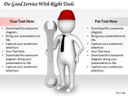 2413 Do Good Service With Right Tools Ppt Graphics Icons Powerpoint