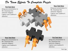2413 Do Team Efforts To Complete Puzzle Ppt Graphics Icons Powerpoint