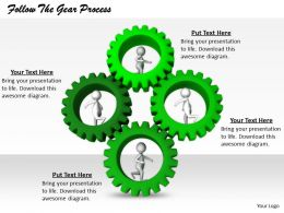 2413 Follow The Gear Process Ppt Graphics Icons Powerpoint