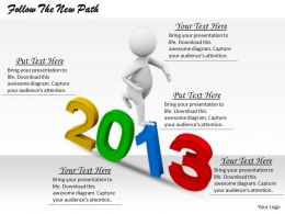 2413 Follow The New Path Ppt Graphics Icons Powerpoint