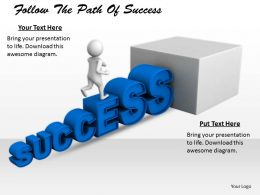 2413 Follow The Path Of Success Ppt Graphics Icons Powerpoint